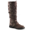 GOTHAM-110 Brown Faux Leather
